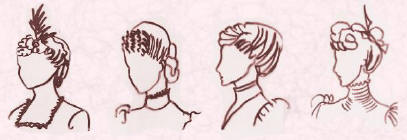 Pictures of late Victorian hair.  Fashion history.