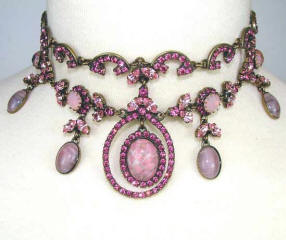 Many Butler and Wilson styles like this pink crystal choker can be had at www.treasurebox.co.uk .