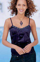 Pale Purple Crinkle Velour Camisole (932-074-X36) �16.99 With sequin trim. 100% polyester. Sizes 6 - 22.