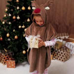 www.next.co.uk reindeer garment  - Rodney Children's Poncho  100% cotton. Sizes 3/5 years (60cm chest 60cm length) 6/8 years (63cm chest 70cm length) 975-372-G40 �15.99