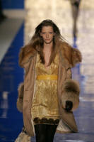 BLUMARINE - Golden fox oversized collar and cuffed coat - 2006 Fashion History