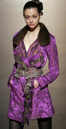 Christian Lacroix silk jacquard jacket with mink collar - 2006 Fashion History