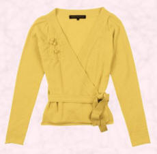 French Connection primrose yellow wrap cardigan at �65