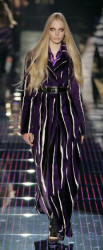 Gucci pinstripes in purple and white