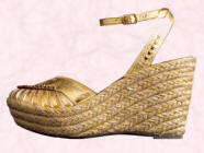 KG Hinda Wedge shoe, Gold (13554301) �50 from John Lewis
