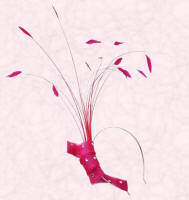 Sinamay Twist on Headband with Feathers & Quills, Fuchsia �115