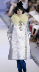 Silver Couture Fur Fashion Fall 2006 - Christian Lacroix Coat