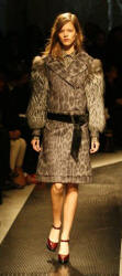 Prada coat in a grey animal-print