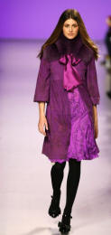Pucci - Purple suede coat with fox collar.