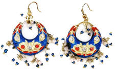 This red and blue pair would make a great pair of patriotic earrings in the USA and UK.