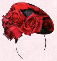 Red rose hat right by designer Philip Treacy is �595.