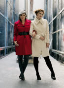 Evans Autumn/Winter 2006, Red coat �65/�99 Ivory coat �75/�114, Belt �12/�18 Beret �8/�12.