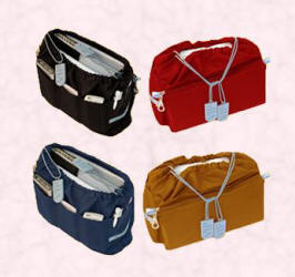 Handbag liners from bananasoup.com