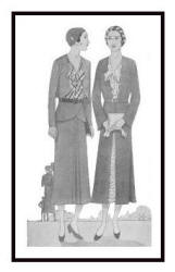 Suits and a redngote - April 1930 - Good Housekeeping Fashion Images 3