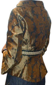 Brocade jacket back.