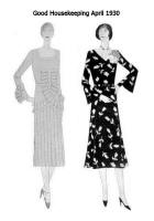 April 1930 - Good Housekeeping Fashion Dresses - Pleats