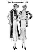 April 1930 - Good Housekeeping Fashion Images - Pleats