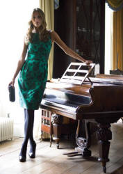 Marks and Spencer dress in green.