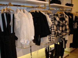 Zara row of black and white stock autumn 2006