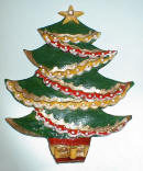 Varnished Bread Dough Xmas Tree