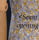 Picture of example showing small seam split.