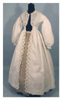 Antique Costume - Early Victorian Pelisse Coat Dress.