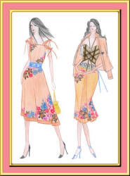 Summer dresses fashion design by Carrie