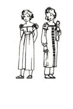 Fashionable clothing for girls 1815