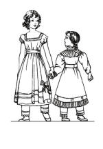 Colouring in Pictures of Regency Children's Costume  1825