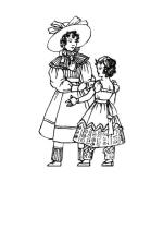 1830 Colouring in Picture of Children's Costume