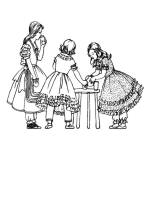 Colouring in Pictures of Early Victorian Children's Costume 1840