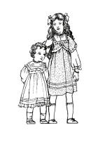 C20th Colouring in Pictures of Children's Costume 1910
