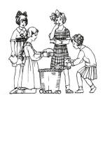 C20th Colouring in Pictures of Children's Costume 1920