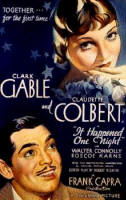 Claudette Colbert and Clark Gable Movie Poster