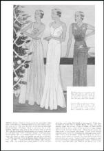 Evening wear from Good Housekeeping December 1932 fashion