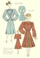 c1948  Fashion Designs - Sewing Pattern Cutting Drafts 2 - 3017 and 3018