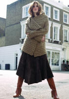 Suede skirt �50, Boots �80, Knit �45.