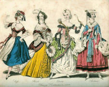Artist's Costume Plate - The World of Fashion issued in March 1839