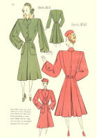 c1948  Fashion Designs - Sewing Pattern Cutting Drafts 3019 and 3020