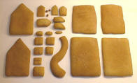 Picture of gingerbread pieces after cooking.