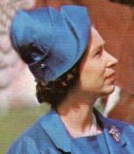 The Queen's Hats to the Mid 1970s blue hat