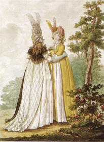 Heideloff's Gallery of Fashion Day Dresses of 1796
