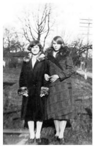 Two Girls in flapper Coats 1927