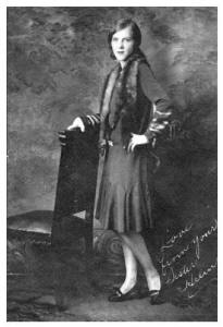 Stylish Woman of 1928 in Day Dress