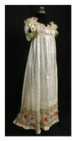 Museum Vintage - Directoire-period fancy silk evening dress with metallic trim, c.1800