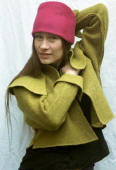 Felted hat and jacket by Constance Willems