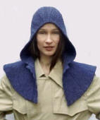 Felted rain hood by Constance Willems