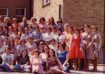 1977 Fashion History Image of College Women of the 1970s - 1