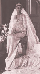 Princess Marina iin her wedding gown