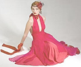 Marilyn is one of the lovely dresses designed by Simone Williams and sold through Mohina �170.